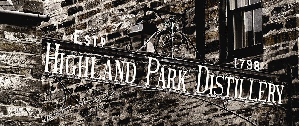 Highland Park Distillery Sign