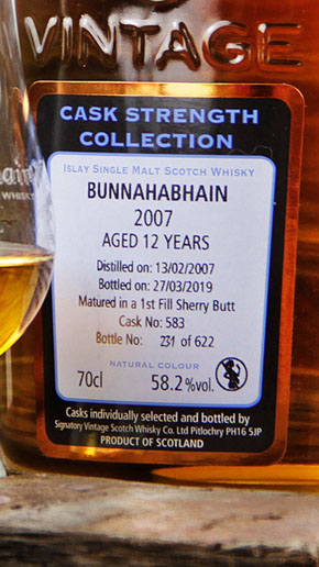 Bunnahabhain 12 Cask Strength Collection Signatory Vintage