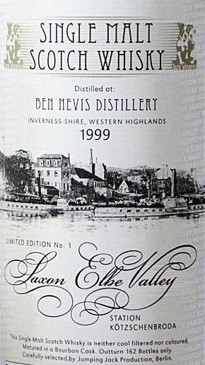 Ben Nevis Whisky Vintage 1999